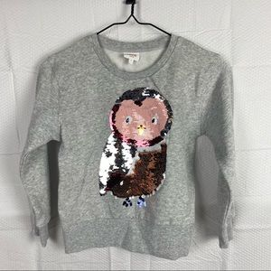 Girls Seed Heritage Gray Long Sleeve Round Neck Pulled Over Jumper Size 7